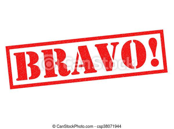BRAVO! Rubber Stamp - csp38071944