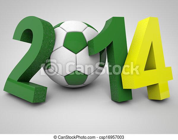 brazília, 2014, futball, bajnokság - csp16957003