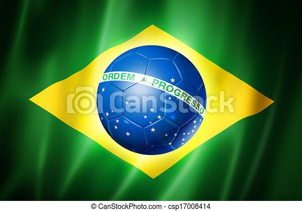 brazília, csésze, lobogó, világ, 2014, futball - csp17008414