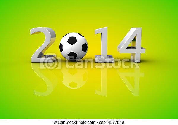 brazília, fogalom, csésze, labdarúgás, 2014, világ, futball - csp14577849