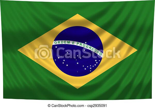 brazília, nemzeti lobogó - csp2935091