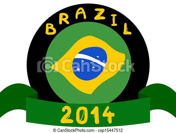 brazília, szalag - csp15447512
