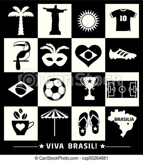 brazília, vektor, ábra - csp55264881