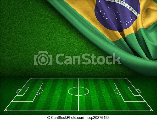 brazília, világ, futball, fogalom, csésze - csp20276482
