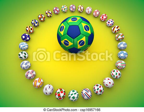 brazília, világ, labdarúgás, csésze, 2014 - csp16957166