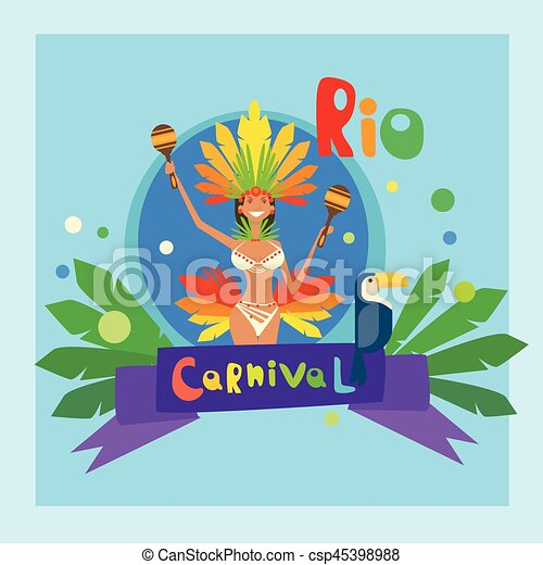 Brazil Carnival Colorful Rio Holiday Party Celebration