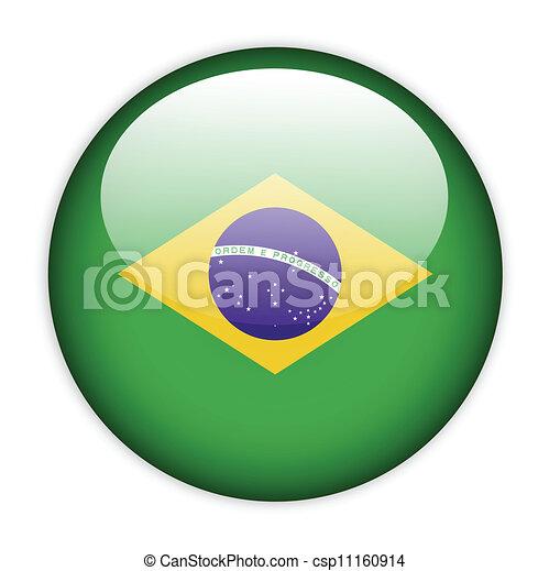 Brazil flag button - csp11160914