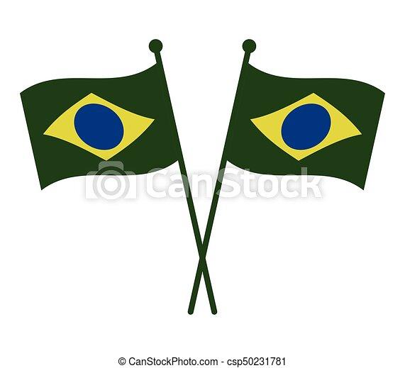 Brazil flag - csp50231781