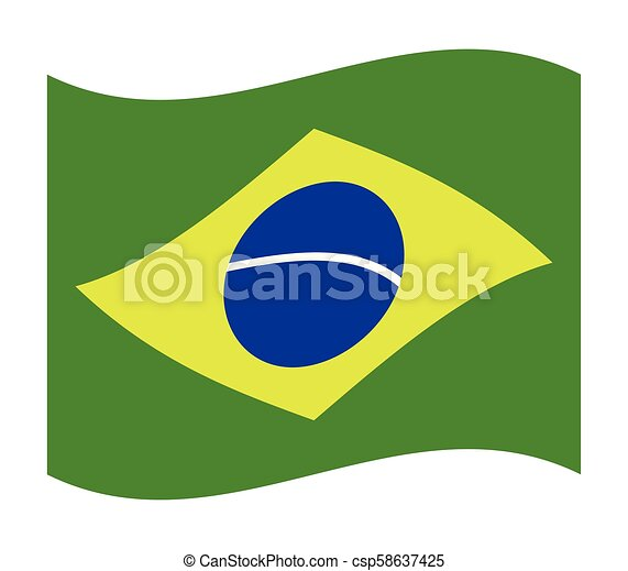 brazil flag - csp58637425