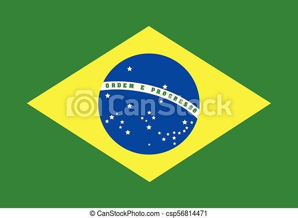brazil lobogó, vektor, ábra - csp56814471