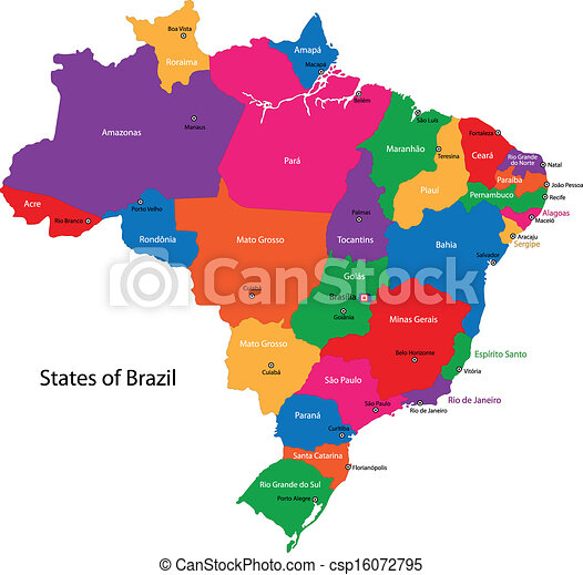 Brazil map - csp16072795