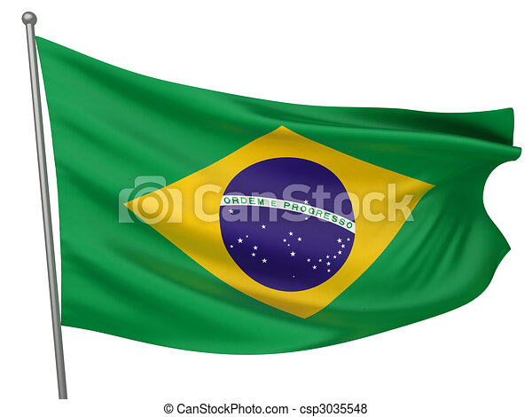Brazil National Flag - csp3035548