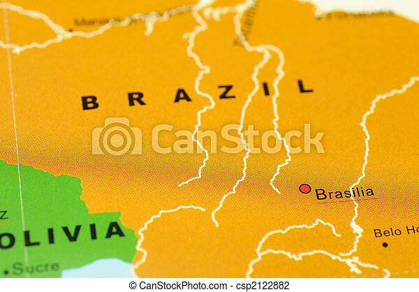 Close up of brasilia brazil on map stock photo search pictures brazil on map csp2122882 gumiabroncs Image collections