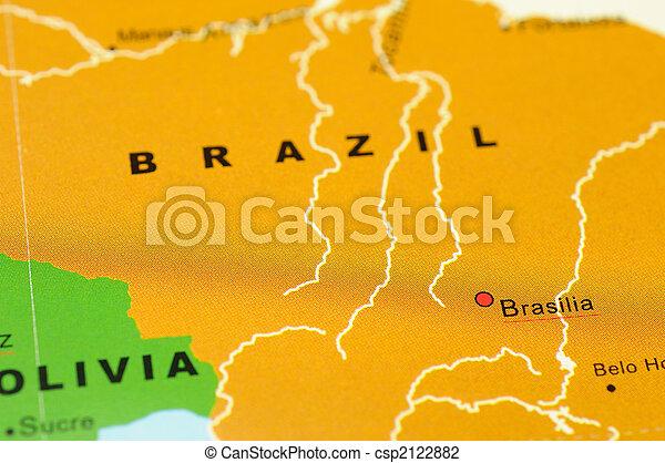 Brazil on map - csp2122882