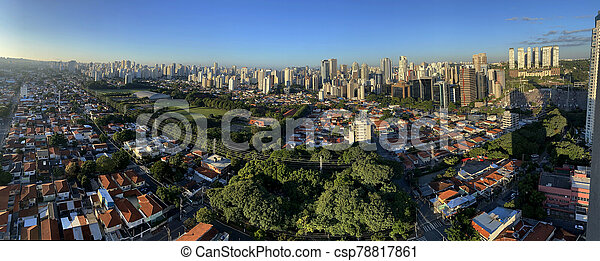 brazil., panorámico, paulo, vista, sao, ciudad - csp78817861