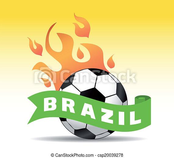 brazil soccer ball  - csp20039278