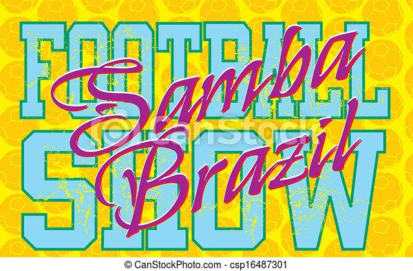 brazilian football retro style vector art - csp16487301