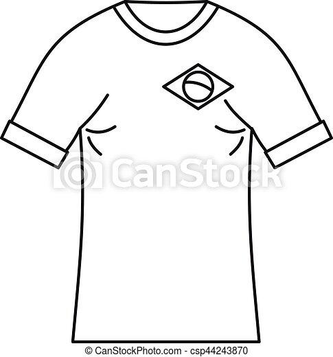Brazilian Football T Shirt Icon Simple Style Brazilian Football T