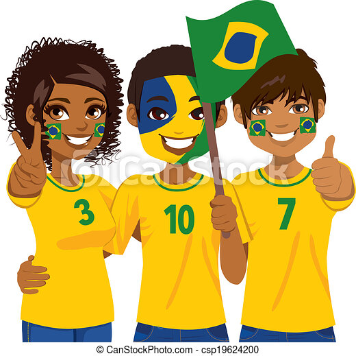football fan clipart. brazilian soccer fans - csp19624200 football fan clipart t