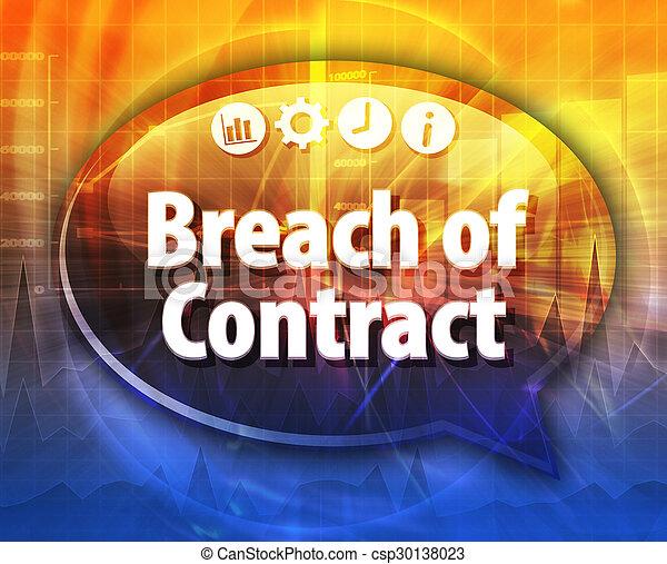 Breach of Contract Business term speech bubble illustration - csp30138023