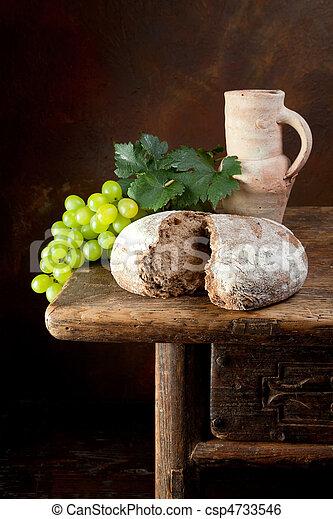 bread, ワイン - csp4733546