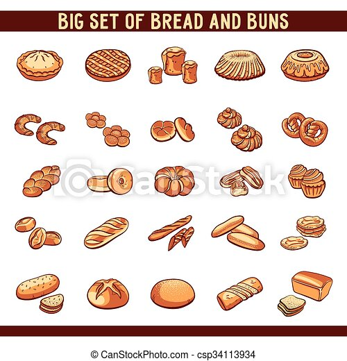 Bread And Buns Collection - csp34113934