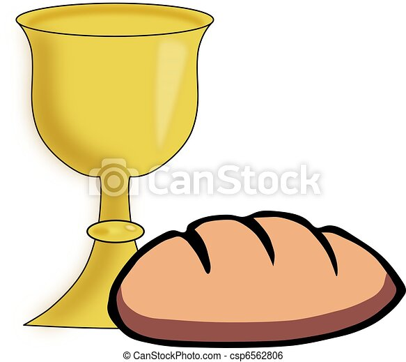 Bread And Chalice Vector Ilustration Stock Illustration