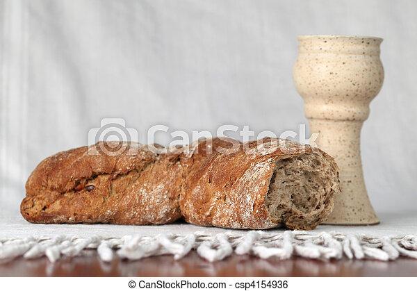 Bread and wine - csp4154936