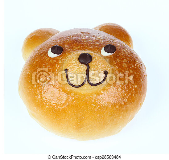 Bread Bear isolate on white - csp28563484