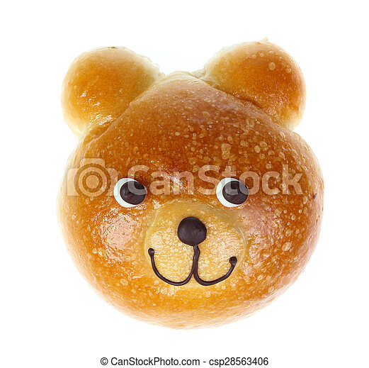 Bread Bear isolate on white - csp28563406