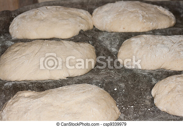 Bread before being toasted  - csp9339979
