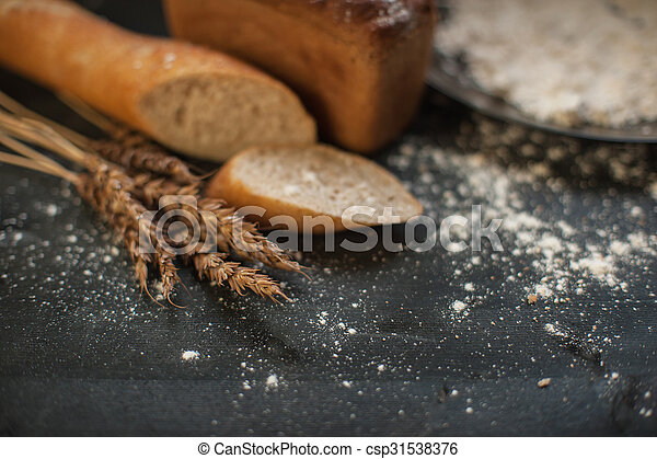 Bread composition with wheats - csp31538376