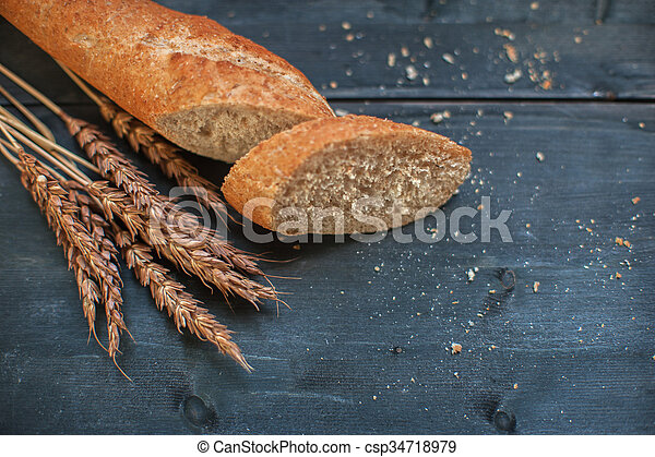 Bread composition with wheats - csp34718979