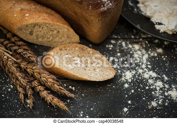 Bread composition with wheats - csp40038548