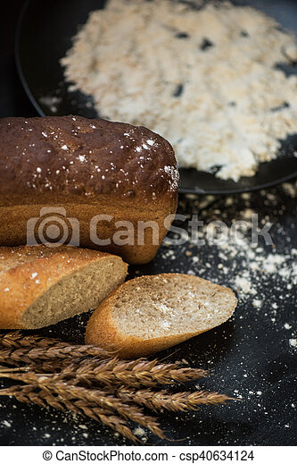 Bread composition with wheats - csp40634124