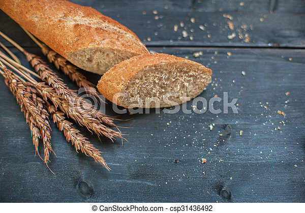 Bread composition with wheats - csp31436492