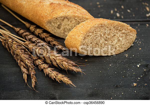 Bread composition with wheats - csp36456890
