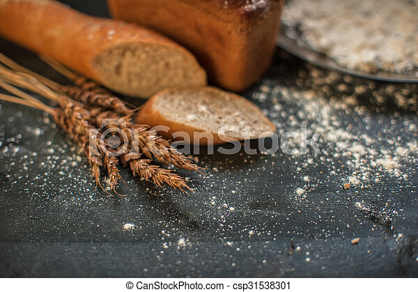 Bread composition with wheats - csp31538301