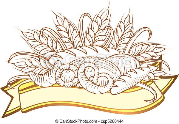 Bread engravings - csp5260444