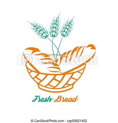 Bread in a bowl - csp55621402
