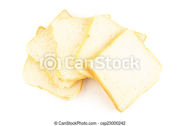bread isolated on white background - csp23000242
