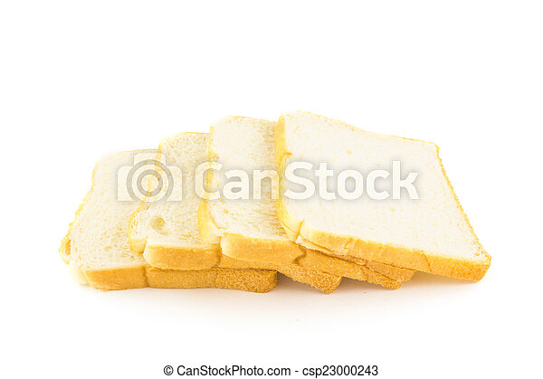 bread isolated on white background - csp23000243