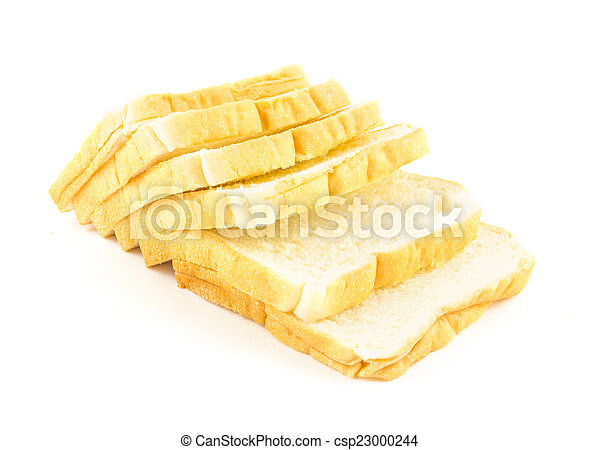 bread isolated on white background - csp23000244