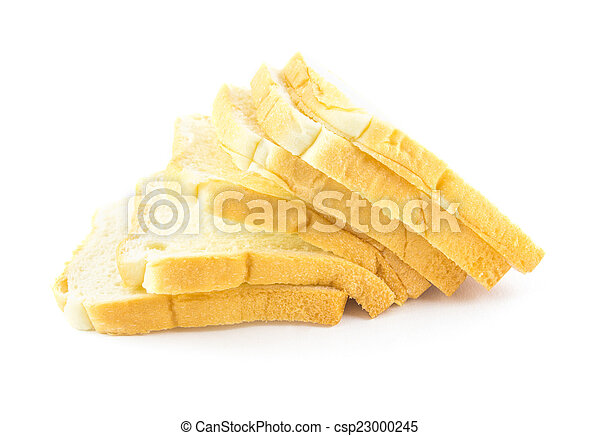bread isolated on white background - csp23000245
