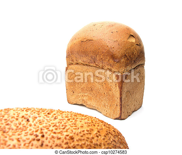 bread on a white background - csp10274583