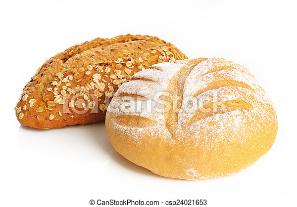 bread on white background - csp24021653