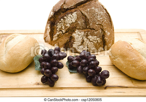 Bread roll with grapes - csp12050805