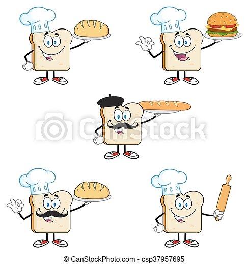 Bread Slice Collection Set 3 - csp37957695