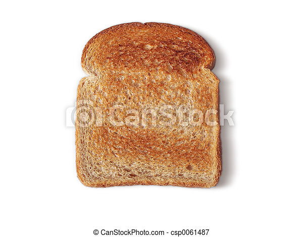 Bread Toasted no butter - csp0061487