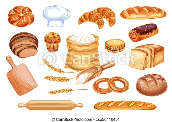 Bread Watercolor Icon Of Bakery And Pastry Food Bread Watercolor Icon Of Wheat Food Product Loaf Of Rye And Wheat Bread Canstock